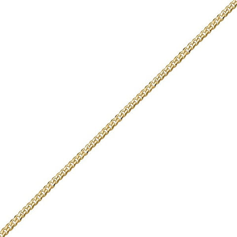 "16"" YELLOW GOLD CURB CHAIN CHA-CUR-0466"