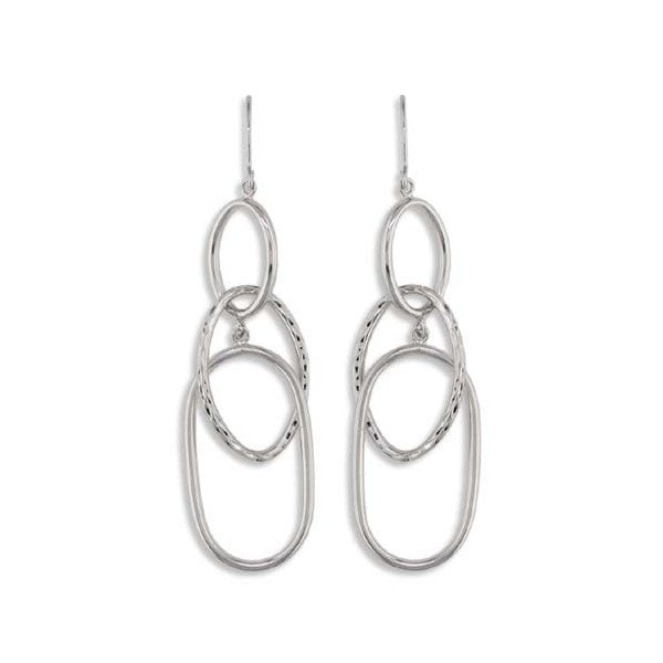 WHITE GOLD DANGLE EARRINGS EAR-GLD-2857