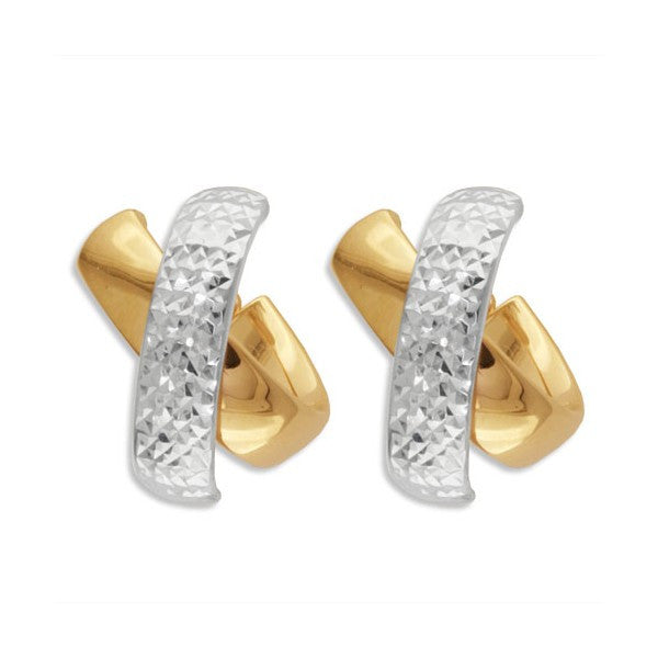 TWO TONE GOLD EARRINGS EAR-GLD-2946