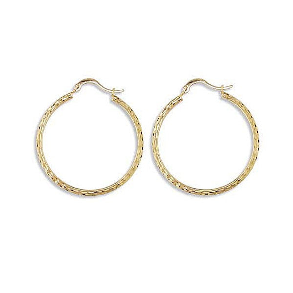 YELLOW GOLD HOOP EARRINGS EAR-GLD-2964