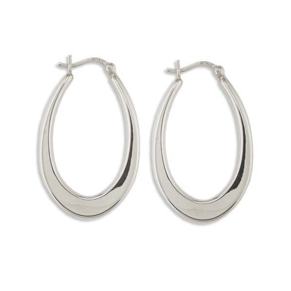 WHITE GOLD HOOP EARRINGS EAR-GLD-2952