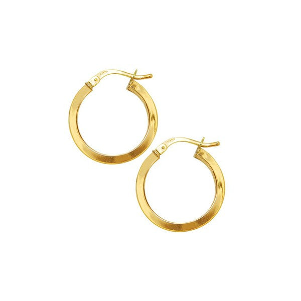 YELLOW GOLD GOLD HOOP EARRINGS EAR-GLD-2856
