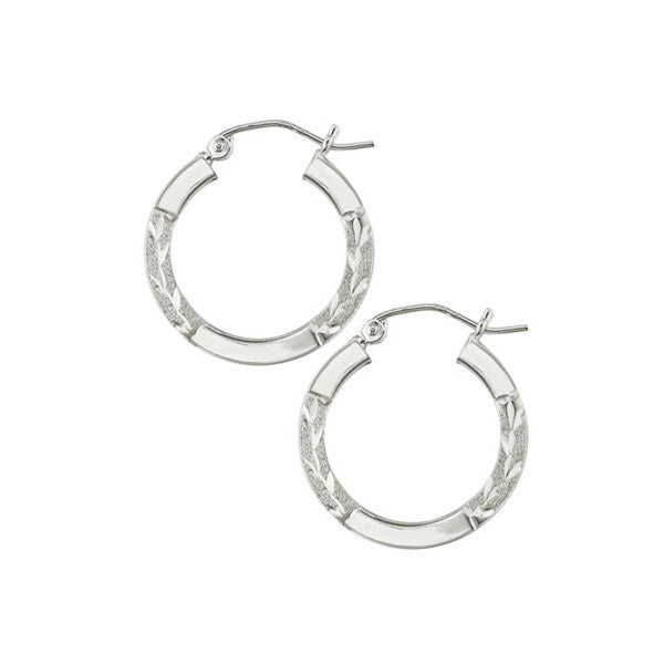 WHITE GOLD HOOP EARRINGS EAR-GLD-2987