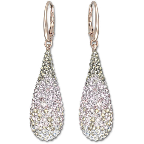 Swarovski Abstract Nude Pierced Earrings