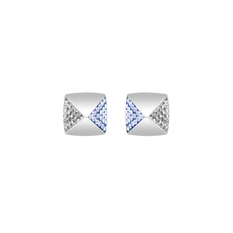 Swarovski Glance Stud Pierced Earrings Blue