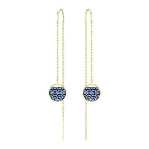 Swarovski Ginger Pierced Earrings Blue