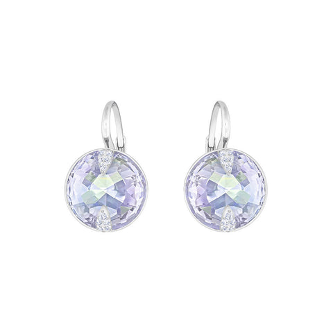 Swarovski Globe Pierced Earrings Violet