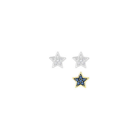 Swarovski Crystal Wishes Star Pierced Earring Set Blue