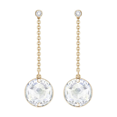 Swarovski Globe Pierced Earrings White