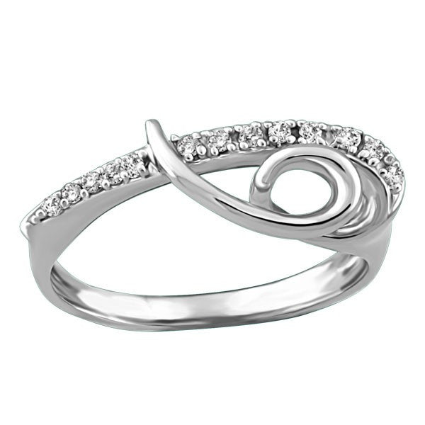 WHITE GOLD LADIES DIAMOND RING RIN-LDI-0590