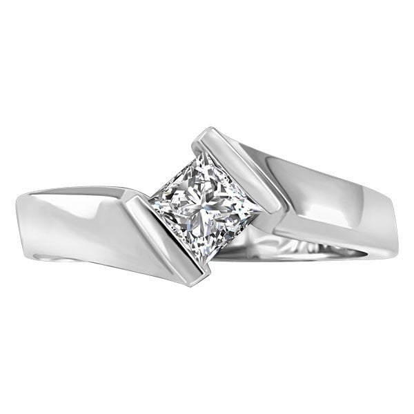 WHITE GOLD 0.40 CT SOLITAIRE ENGAGEMENT RING RIN-SOL-0357