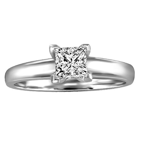 WHITE GOLD 0.50 CT SOLITAIRE ENGAGEMENT RING RIN-SOL-0359