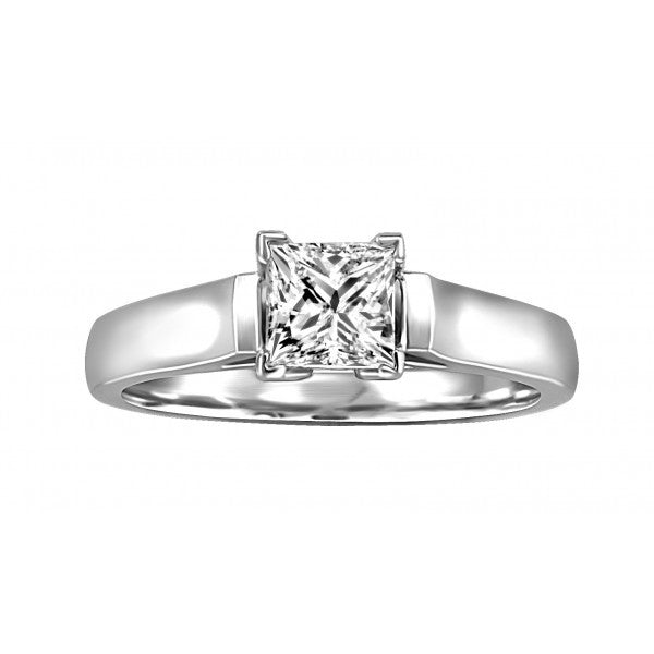 WHITE GOLD 0.75 CT SOLITAIRE ENGAGEMENT RING RIN-SOL-0360