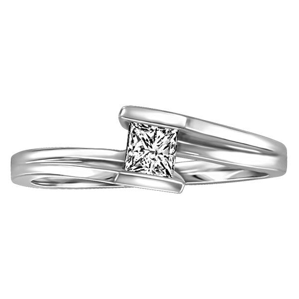 WHITE GOLD 0.25 CT SOLITAIRE ENGAGEMENT RING RIN-SOL-0361