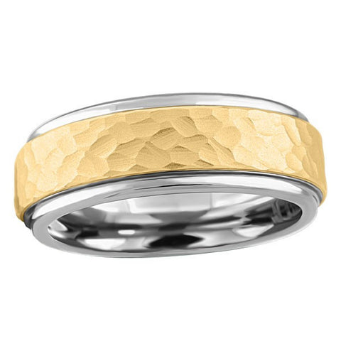 TUNGSTEN CARBIDE AND 14KT GOLD RING RIN-TUN-0375