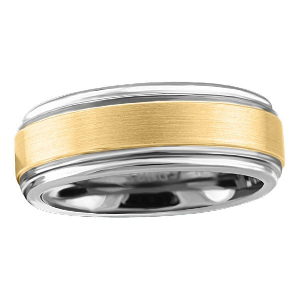 TUNGSTEN CARBIDE AND 14KT GOLD RING RIN-TUN-0376