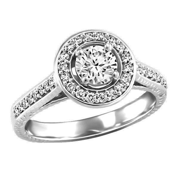 WHITE GOLD CANADIAN DIAMOND ENGAGEMENT RING RIN-LCA-2798
