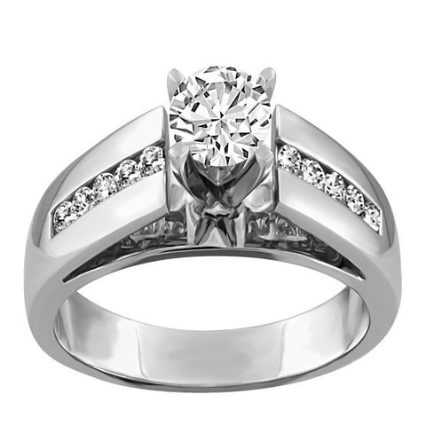 WHITE GOLD 1.00 CTW CANADIAN DIAMOND ENGAGEMENT RING RIN-LCA-2750