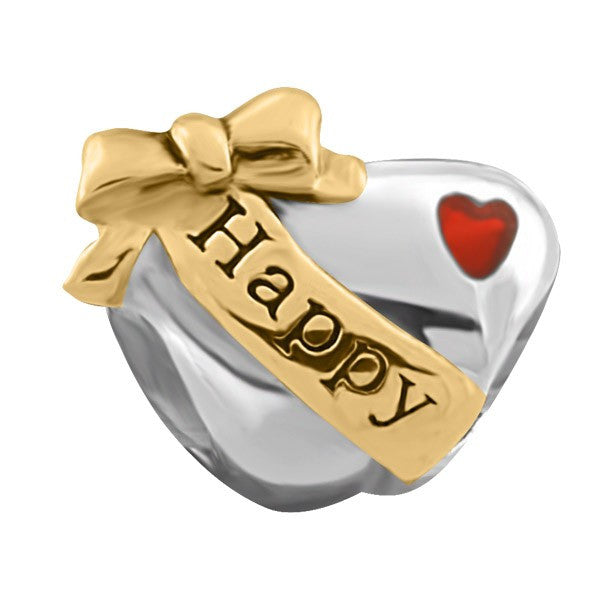 SILVER HAPPY BIRTHDAY HEART BEAD BEA-YAF-0184