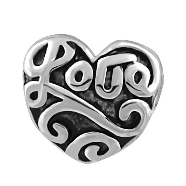 SILVER LOVE HEART BEAD BEA-YAF-0191