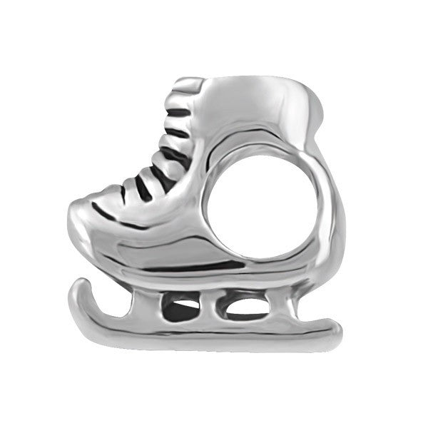 SILVER ICE SKATE BEAD BEA-YAF-0201