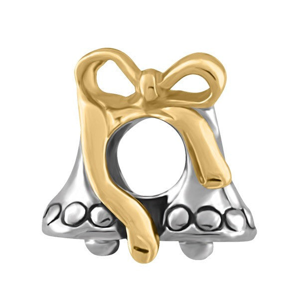 SILVER BELLS WITH RIBBONS BEAD BEA-YAF-0206