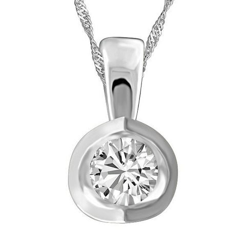 0.15 Carat White Gold Diamond Pendant