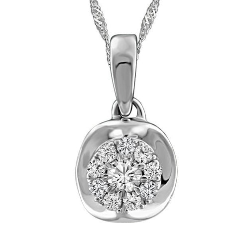 WHITE GOLD DIAMOND PENDANT PEN-DIA-2626