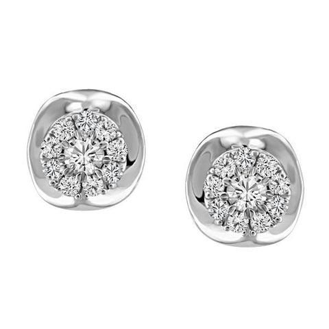 WHITE GOLD DIAMOND EARRINGS EAR-DIA-1433
