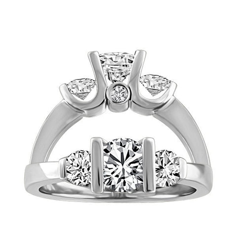 CAPTURED HEARTS CANADIAN DIAMOND 3 STONE RING RIN-LCA-2856