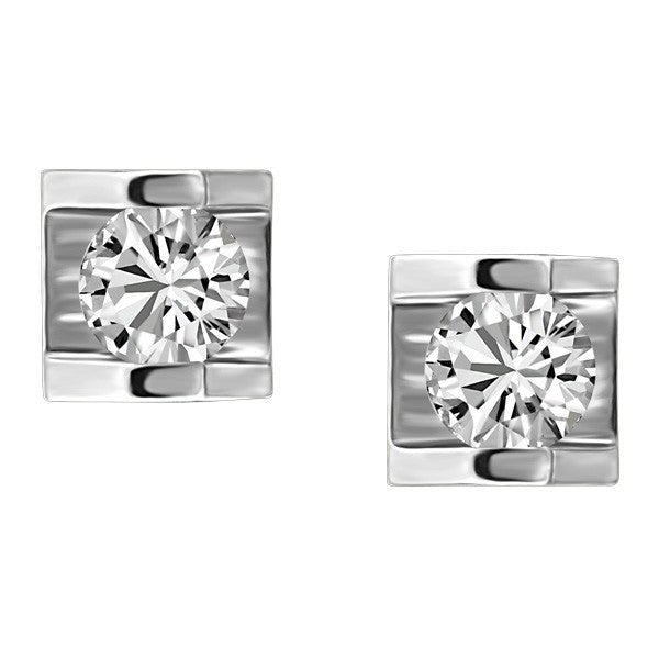 WHITE GOLD CANADIAN DIAMOND EARRINGS EAR-CAN-0415