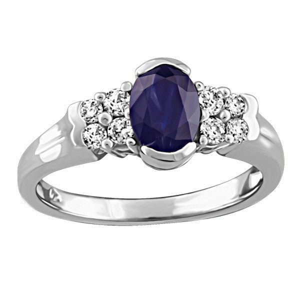 WHITE GOLD DIAMOND AND SAPPHIRE RING RIN-LGM-2671
