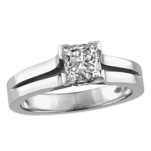 WHITE GOLD CANADIAN DIAMOND ENGAGEMENT RING RIN-LCA-2849
