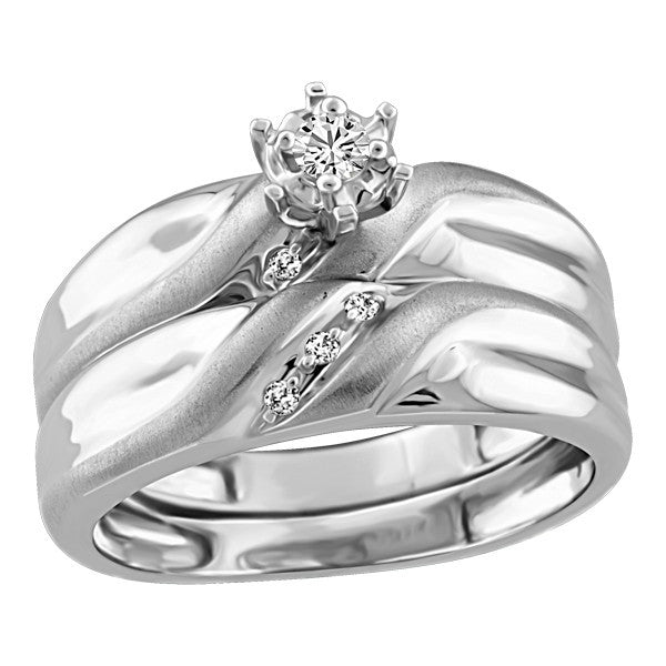 WHITE GOLD DIAMOND ENGAGEMENT RING RIN-ENG-2547