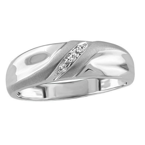 MENS WHITE GOLD DIAMOND MATCHING BAND RIN-MWB-0703