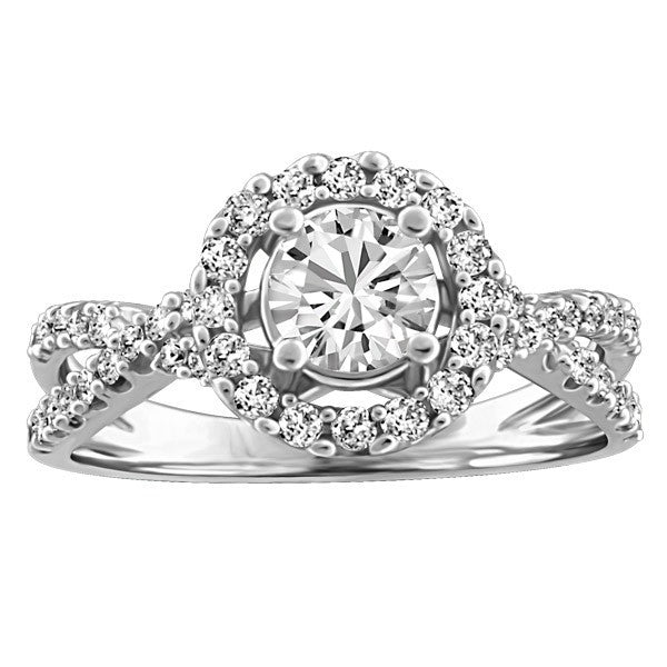FOREVER IN LOVE 18KT WHITE GOLD DIAMOND ENGAGEMENT RING RIN-ENG-2264