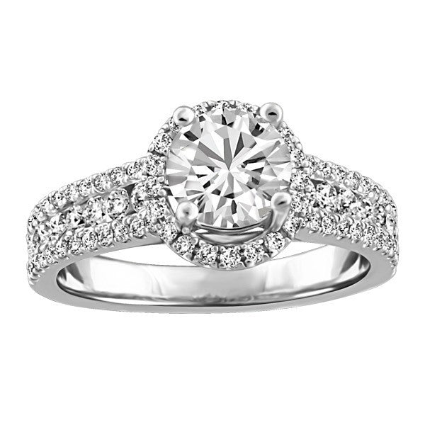 FOREVER IN LOVE 18KT WHITE GOLD DIAMOND ENGAGEMENT RING RIN-ENG-2269