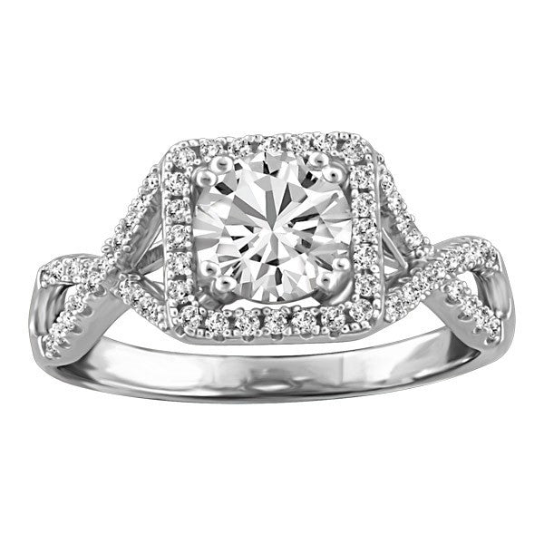 CAPTURED HEARTS WHITE GOLD DIAMOND ENGAGEMENT RING RIN-LCA-2850