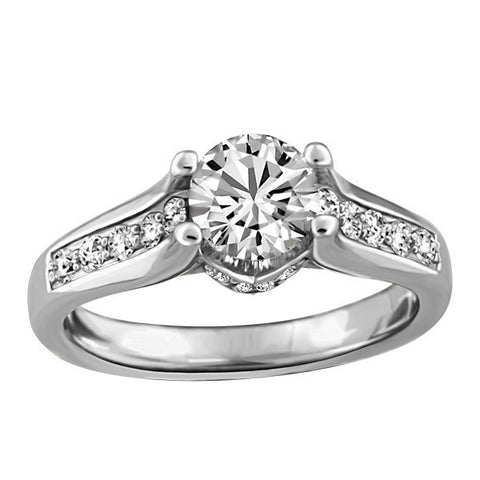 CAPTURED HEARTS WHITE GOLD DIAMOND ENGAGEMENT RING RIN-LCA-2851