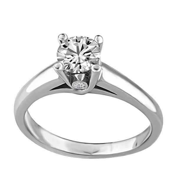 CAPTURED HEARTS WHITE GOLD DIAMOND ENGAGEMENT RING RIN-LCA-2854