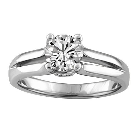 CAPTURED HEARTS WHITE GOLD DIAMOND ENGAGEMENT RING RIN-LCA-2857