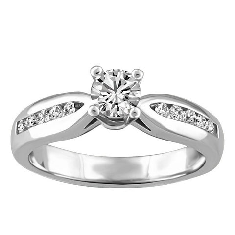 CAPTURED HEARTS WHITE GOLD DIAMOND ENGAGEMENT RING RIN-LCA-2858