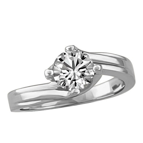 CAPTURED HEARTS WHITE GOLD DIAMOND ENGAGEMENT RING RIN-LCA-2860