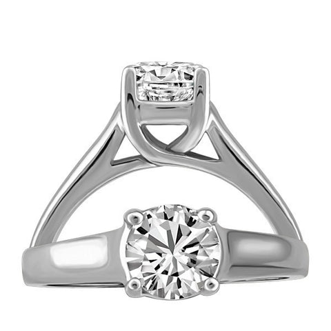 CAPTURED HEARTS WHITE GOLD DIAMOND ENGAGEMENT RING RIN-LCA-2861