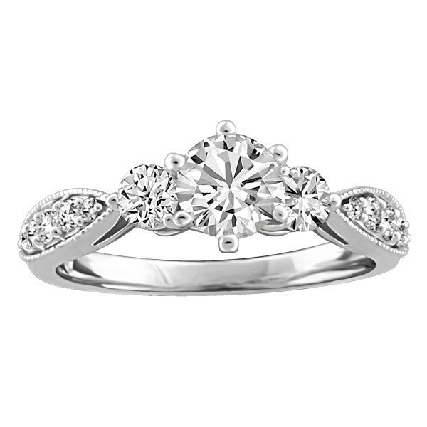 FOREVER IN LOVE 18KT WHITE GOLD DIAMOND ENGAGEMENT RING RIN-ENG-2245