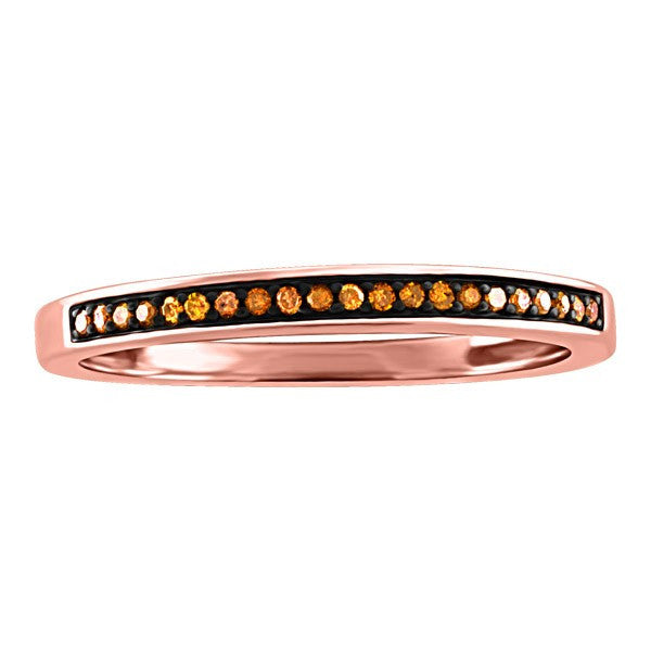 ROSE GOLD STACKABLE BROWN DIAMOND RING RIN-LDI-2182