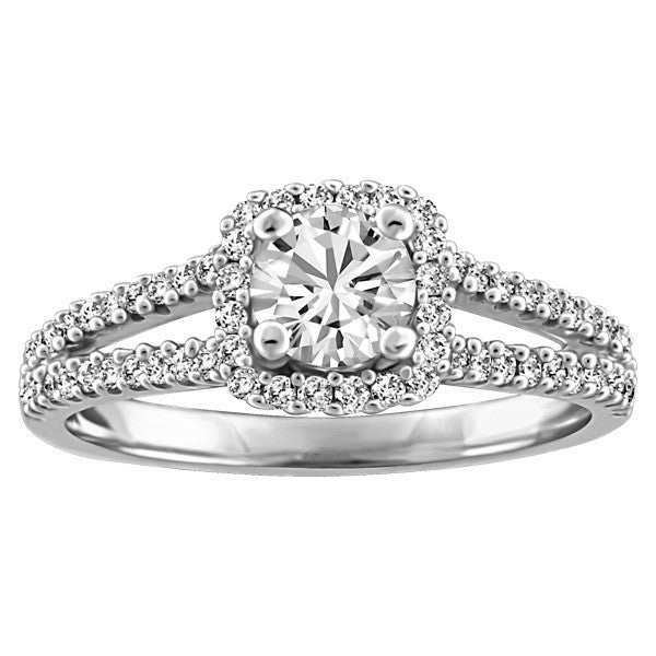 FOREVER IN LOVE 18KT WHITE GOLD DIAMOND ENGAGEMENT RING RIN-ENG-2260