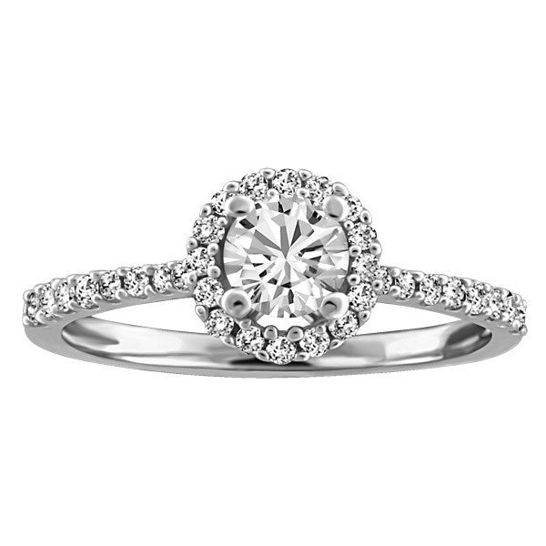 FOREVER IN LOVE 18KT WHITE GOLD DIAMOND ENGAGEMENT RING RIN-ENG-2259