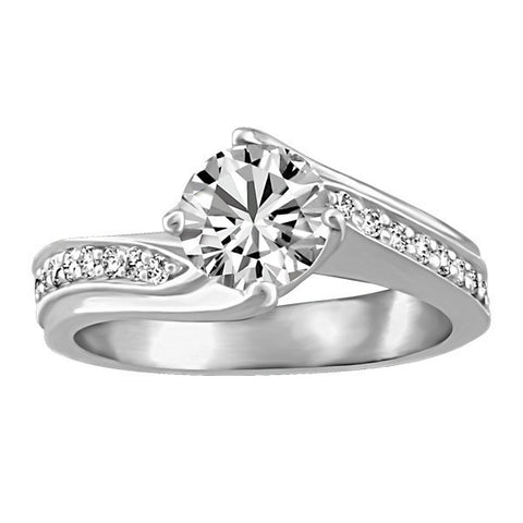 CAPTURED HEARTS WHITE GOLD DIAMOND ENGAGEMENT RING RIN-LCA-2881