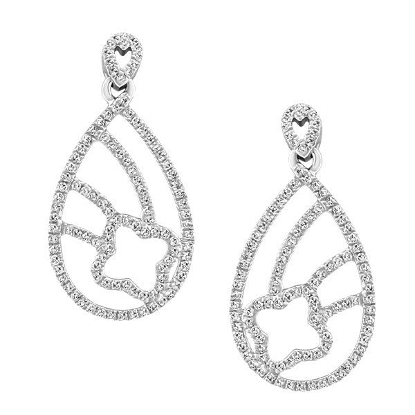 WHITE GOLD DIAMOND EARRINGS EAR-DIA-1381